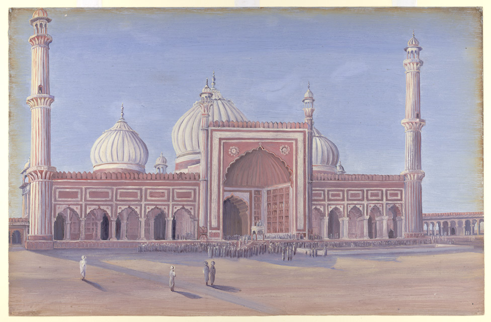 The Great Mosque of Delhi, India. Novr. 1878